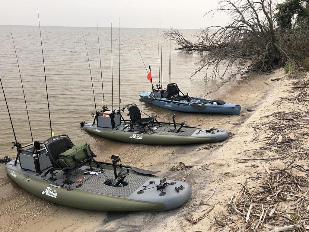 Hobie Kayaks on the beach.