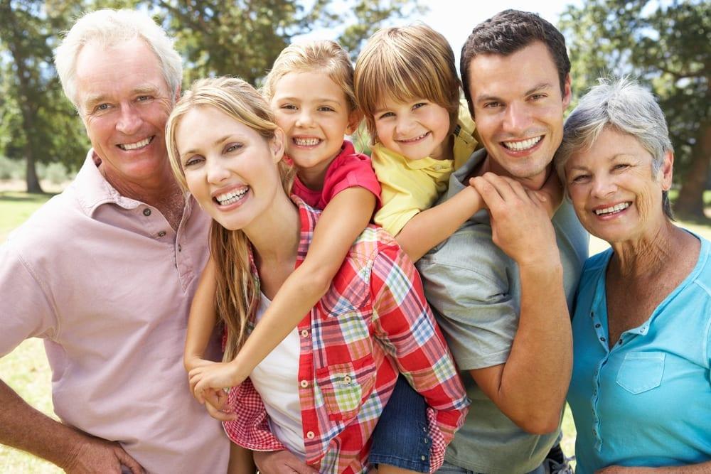 Parents, kids and grandparents.